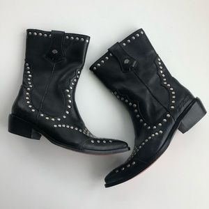 Harley Davidson Studded Western Leather Boots 5